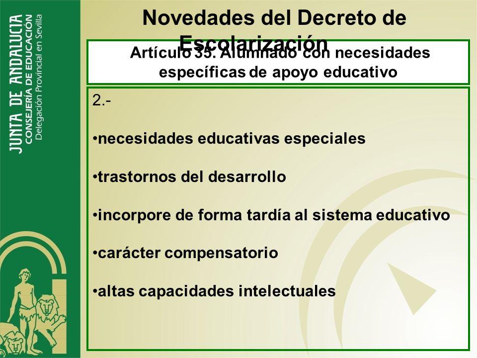 Novedades del Decreto de Escolarización