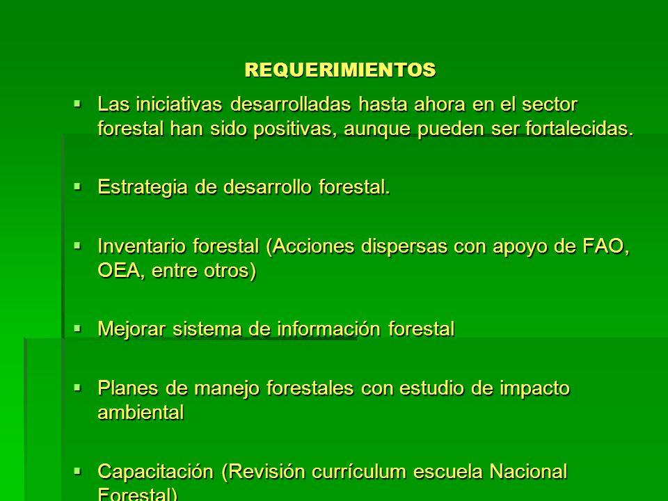 Estrategia de desarrollo forestal.