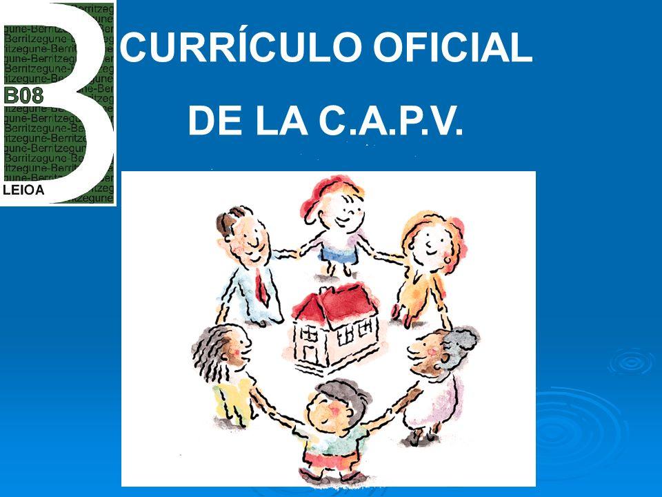 CURRÍCULO OFICIAL DE LA C.A.P.V.