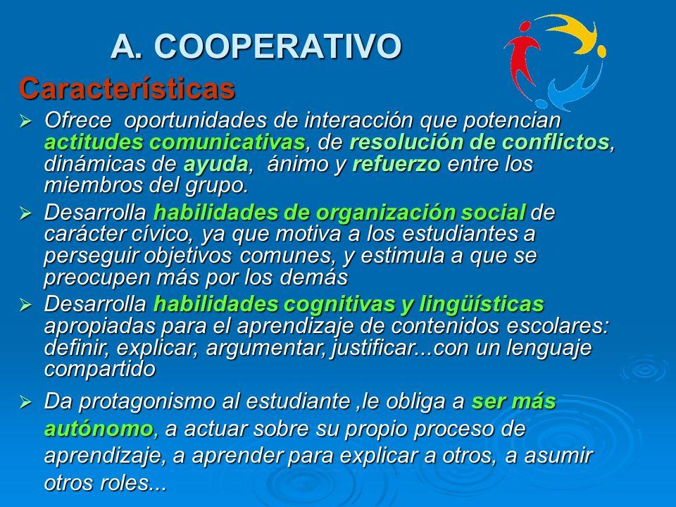 A. COOPERATIVO Características
