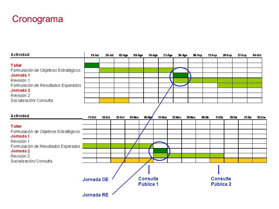 Cronograma Jornada OE Consulta Pública 1 Consulta Pública 2 Jornada RE