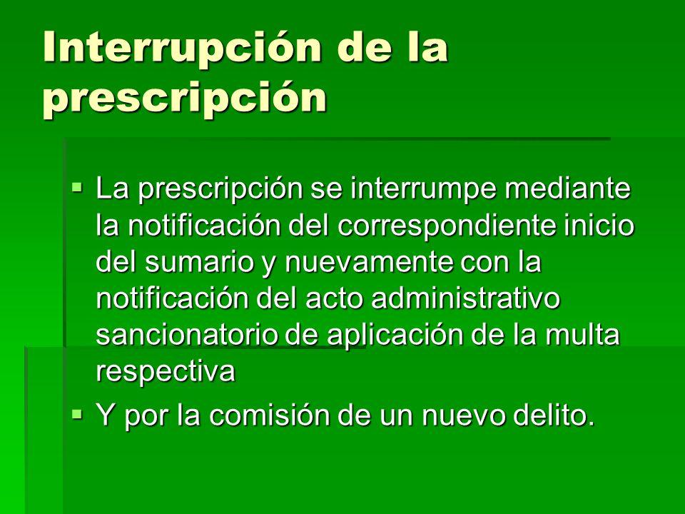 Interrupción de la prescripción