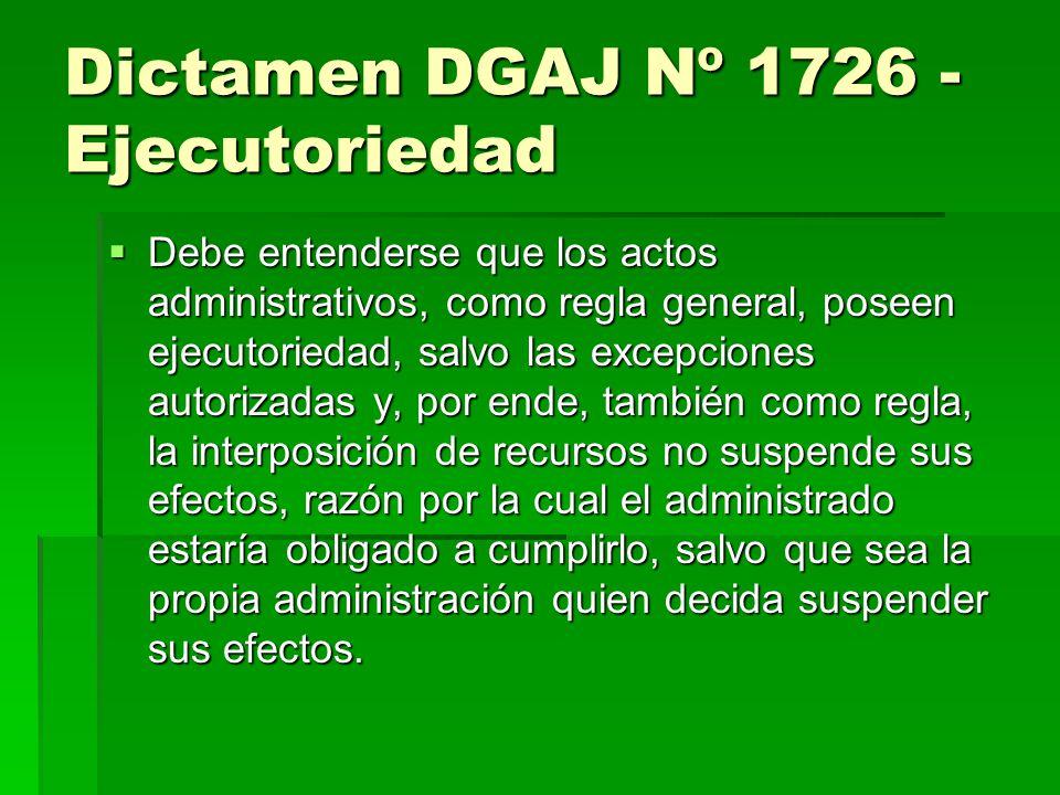 Dictamen DGAJ Nº 1726 - Ejecutoriedad