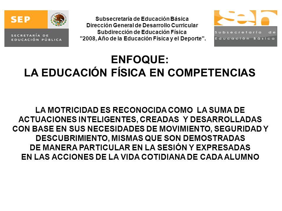 LA EDUCACIÓN FÍSICA EN COMPETENCIAS