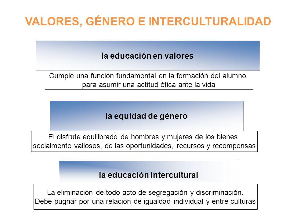 la educación en valores la educación intercultural