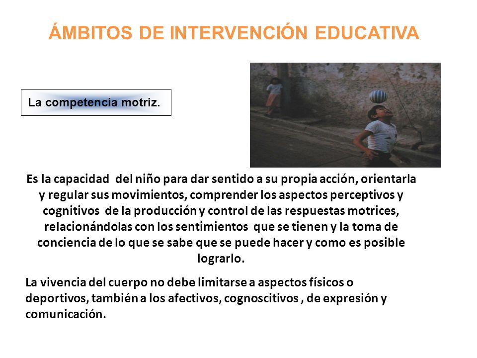ÁMBITOS DE INTERVENCIÓN EDUCATIVA