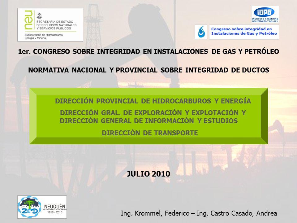 DIRECCIÓN PROVINCIAL DE HIDROCARBUROS Y ENERGÍA