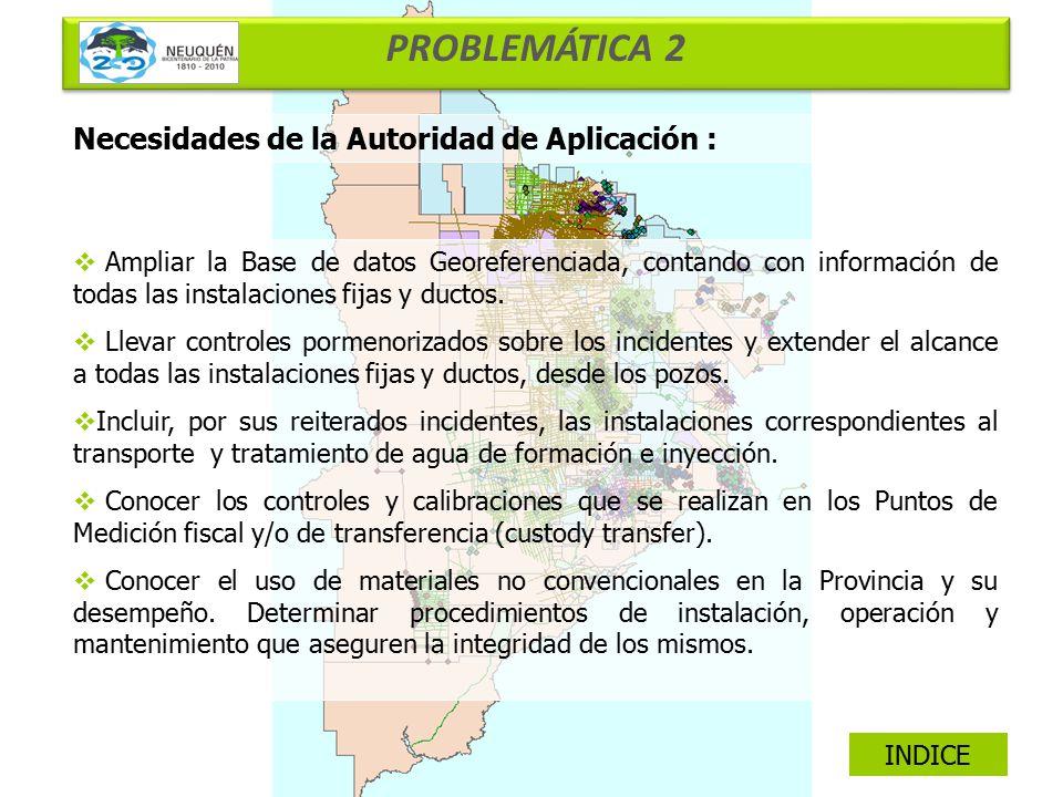 PROBLEMÁTICA 2 Necesidades de la Autoridad de Aplicación :