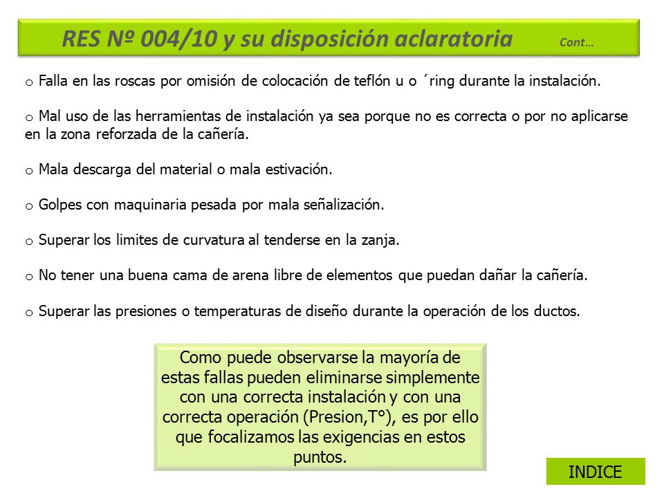 RES Nº 004/10 y su disposición aclaratoria Cont…
