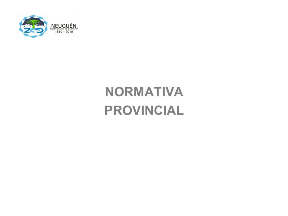 NORMATIVA PROVINCIAL