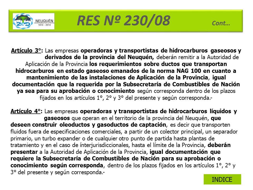 RES Nº 230/08 Cont…
