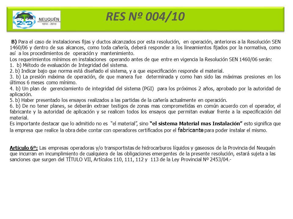 RES Nº 004/10