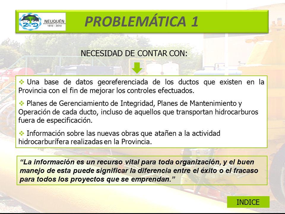 PROBLEMÁTICA 1 NECESIDAD DE CONTAR CON: