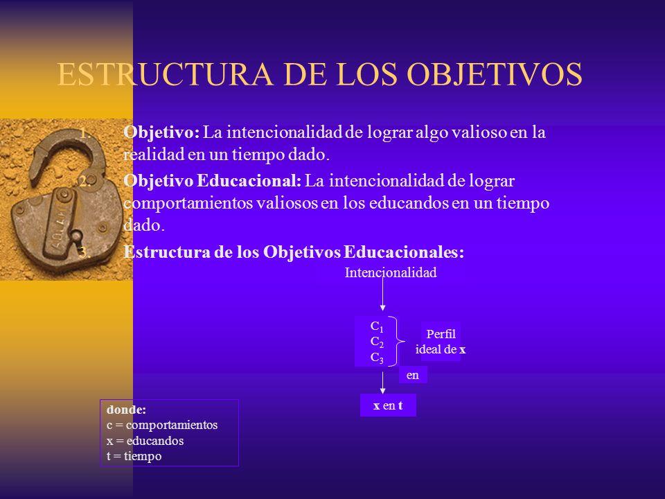 ESTRUCTURA DE LOS OBJETIVOS
