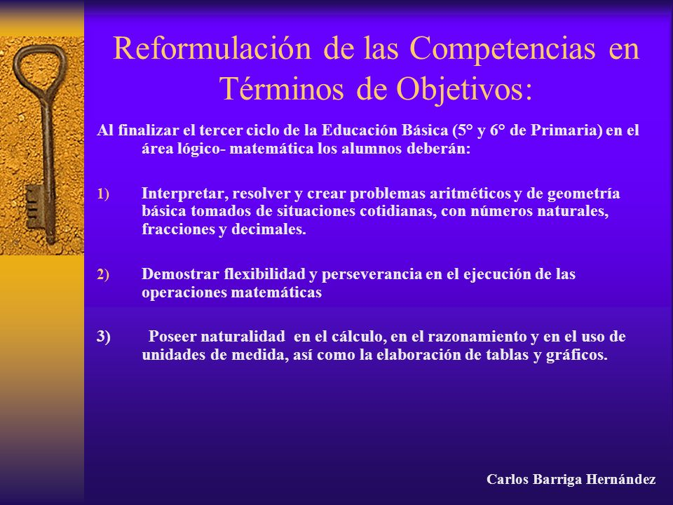 Reformulación de las Competencias en Términos de Objetivos: