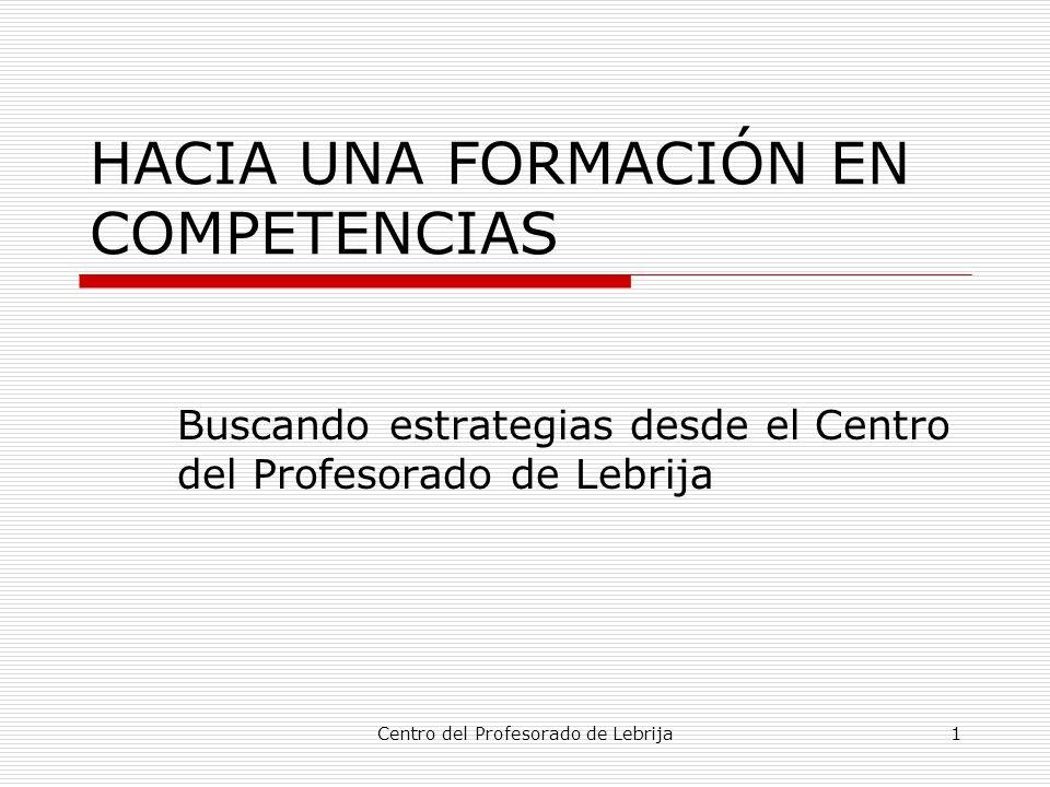 HACIA UNA FORMACIÓN EN COMPETENCIAS