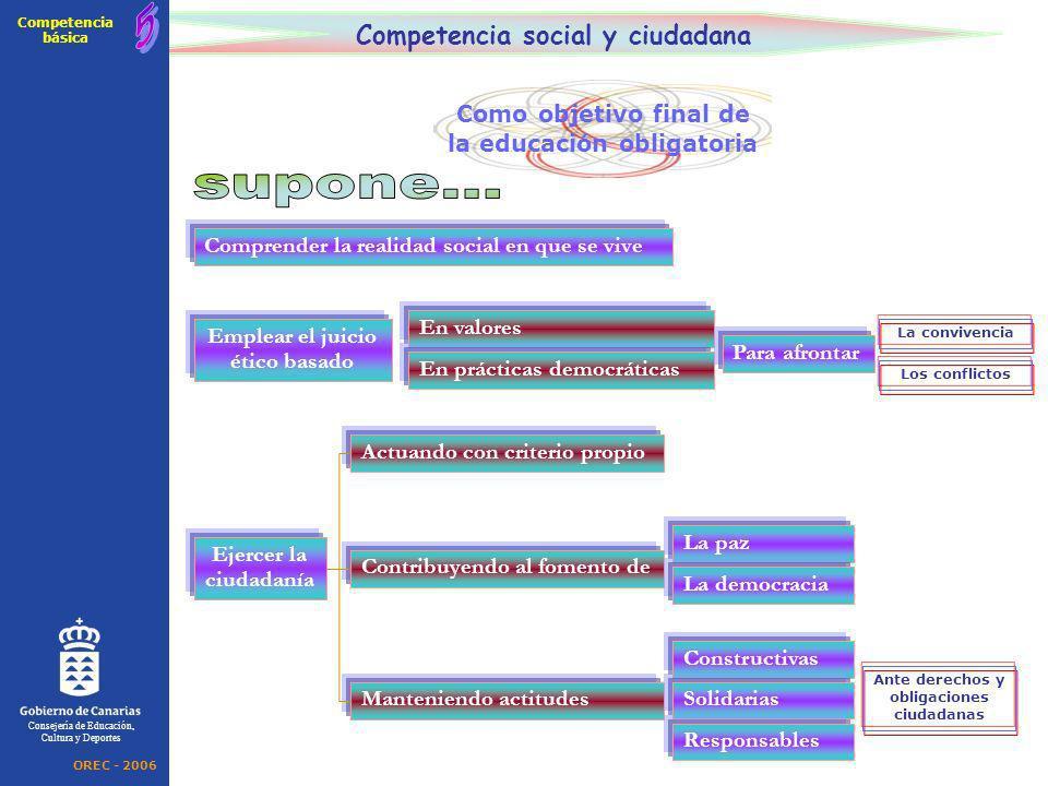 supone... 5 Competencia social y ciudadana