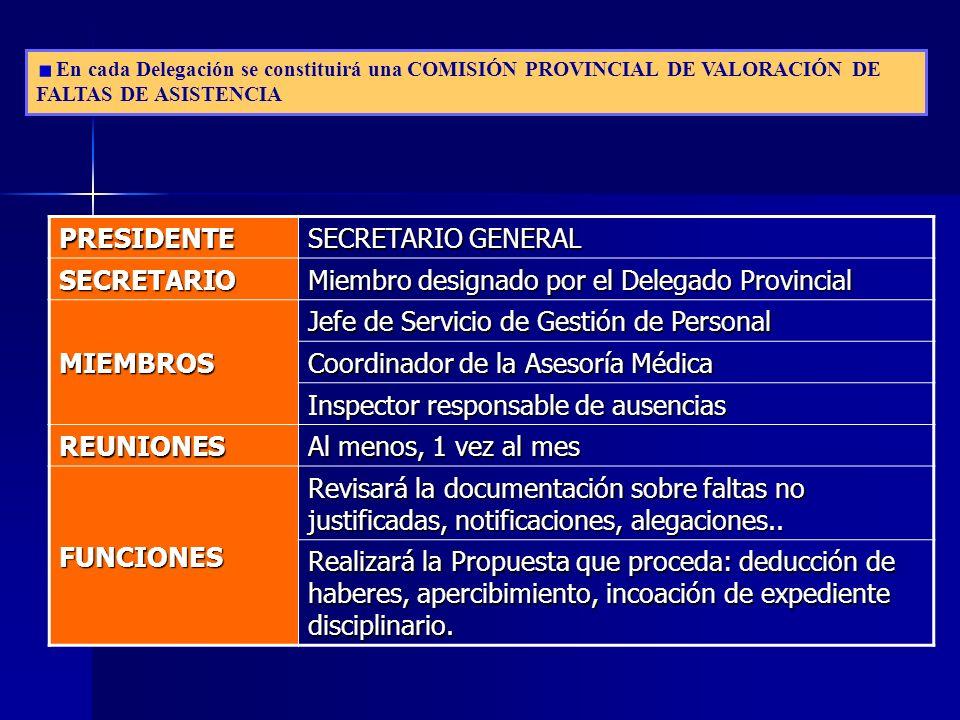 Miembro designado por el Delegado Provincial MIEMBROS