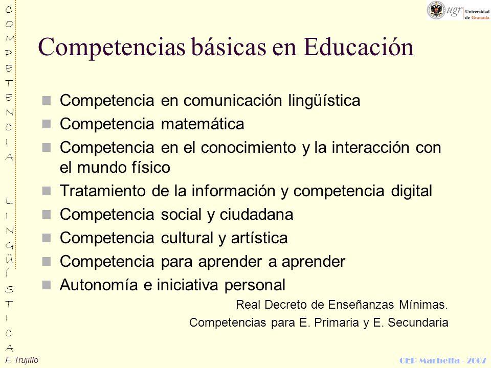 Competencias básicas en Educación