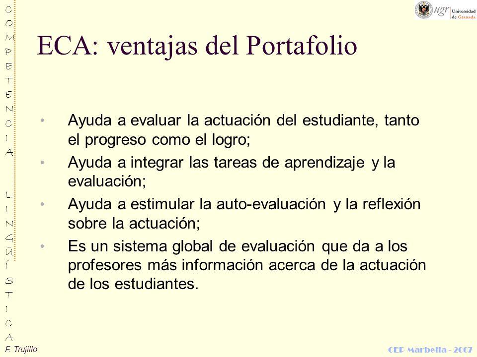 ECA: ventajas del Portafolio