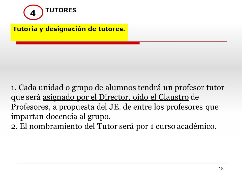 TUTORES4. Tutoría y designación de tutores.