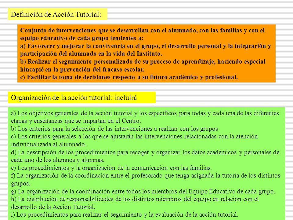 Definición de Acción Tutorial: