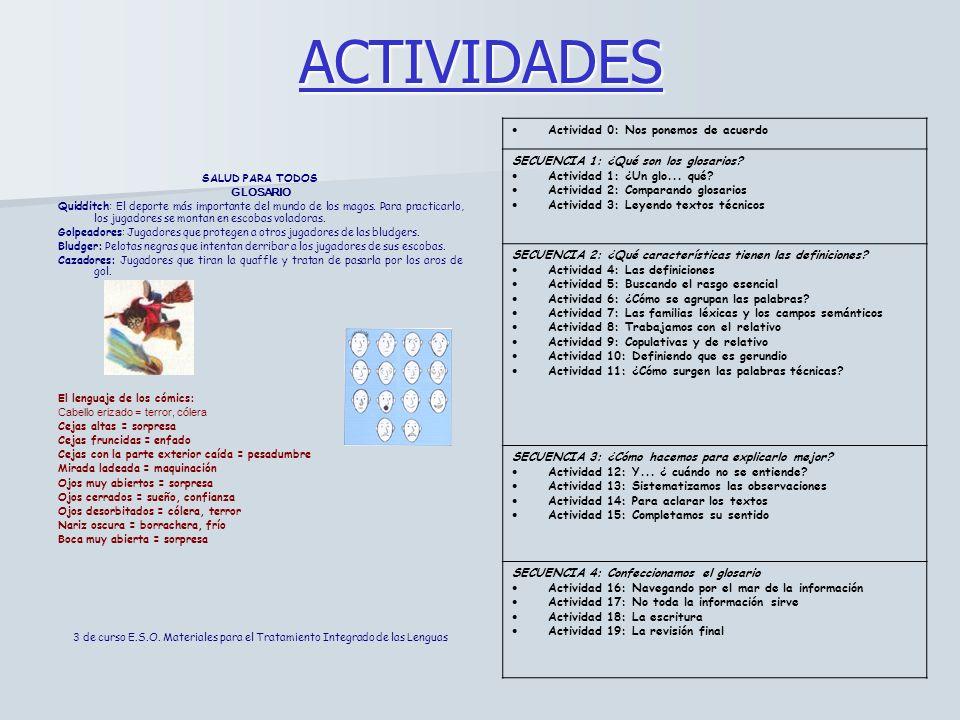 ACTIVIDADES Actividad 0: Nos ponemos de acuerdo