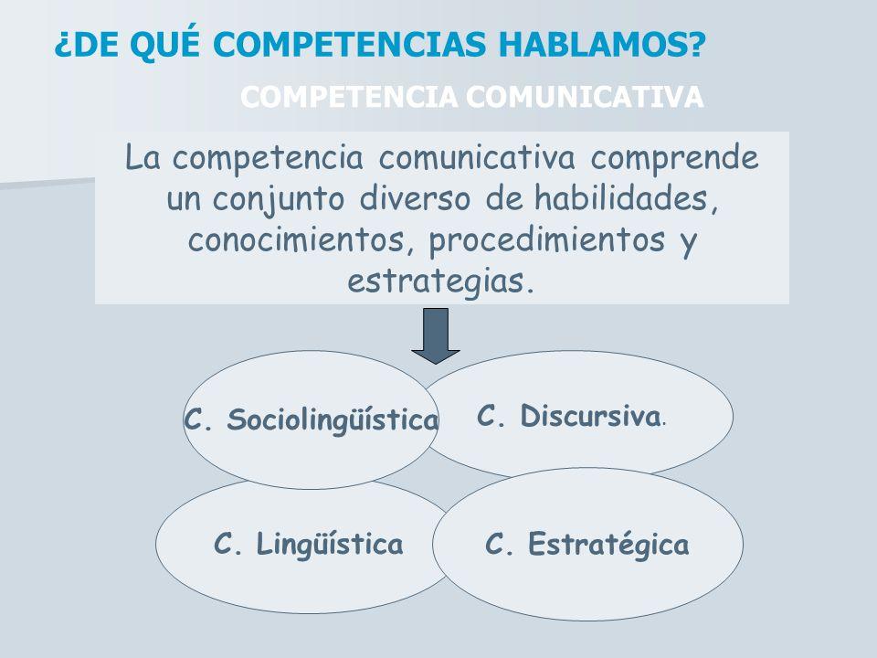 ¿DE QUÉ COMPETENCIAS HABLAMOS