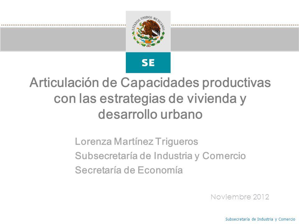 Articulación de Capacidades productivas con las estrategias de vivienda y desarrollo urbano
