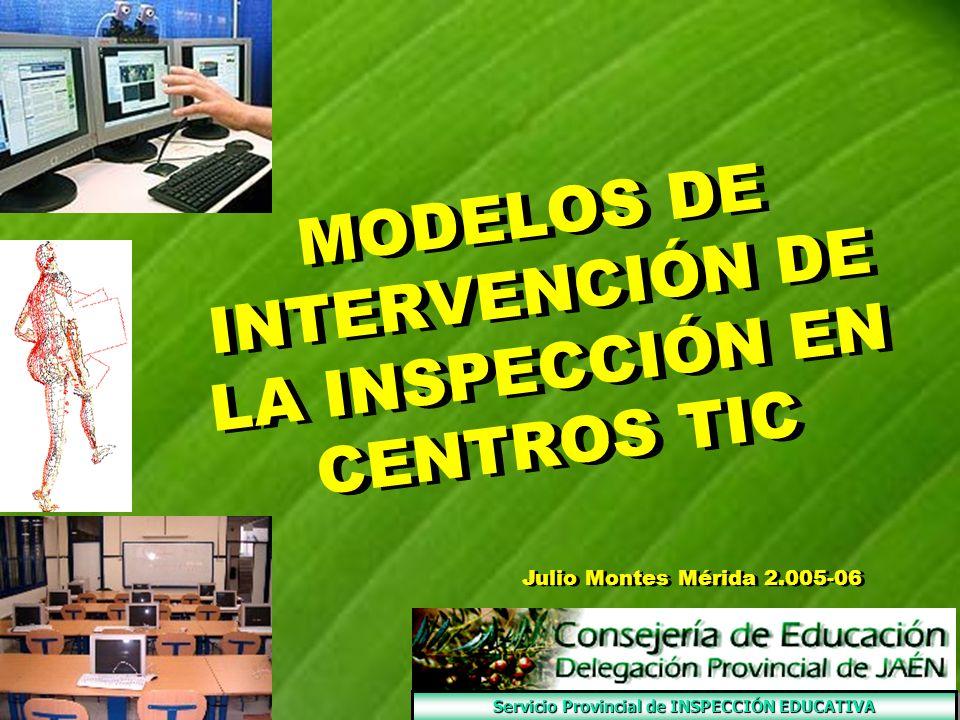 MODELOS DE INTERVENCIÓN DE LA INSPECCIÓN EN CENTROS TIC