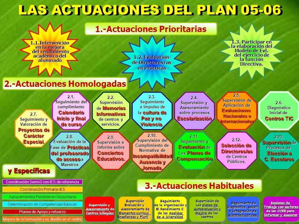 LAS ACTUACIONES DEL PLAN 05-06