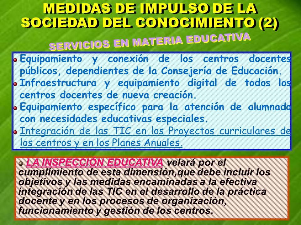 MEDIDAS DE IMPULSO DE LA SOCIEDAD DEL CONOCIMIENTO (2)