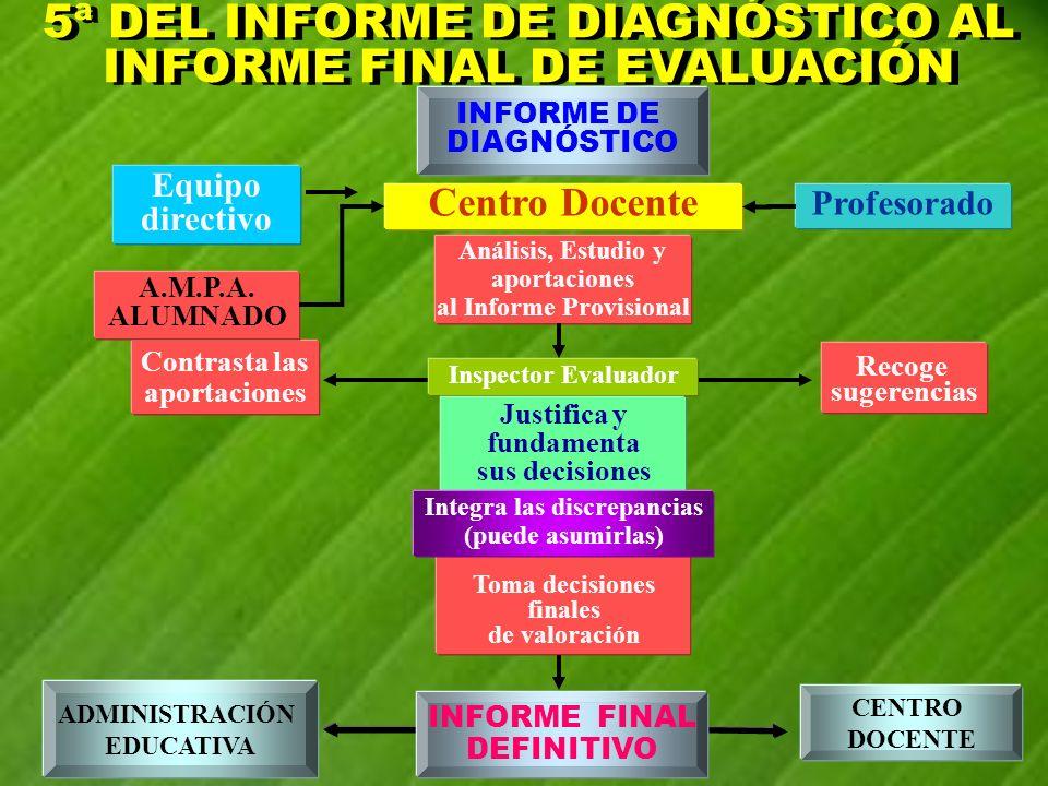5ª DEL INFORME DE DIAGNÓSTICO AL INFORME FINAL DE EVALUACIÓN
