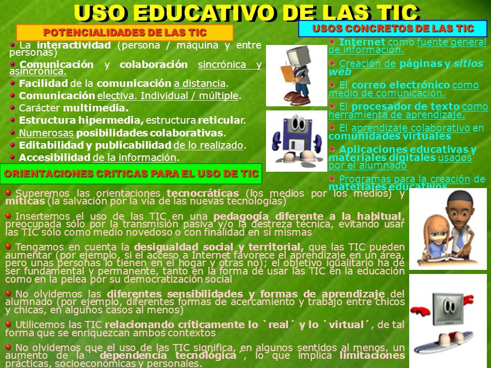 USO EDUCATIVO DE LAS TIC