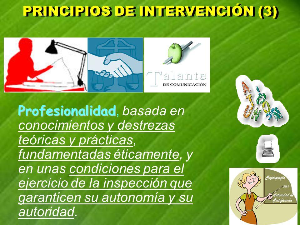 PRINCIPIOS DE INTERVENCIÓN (3)