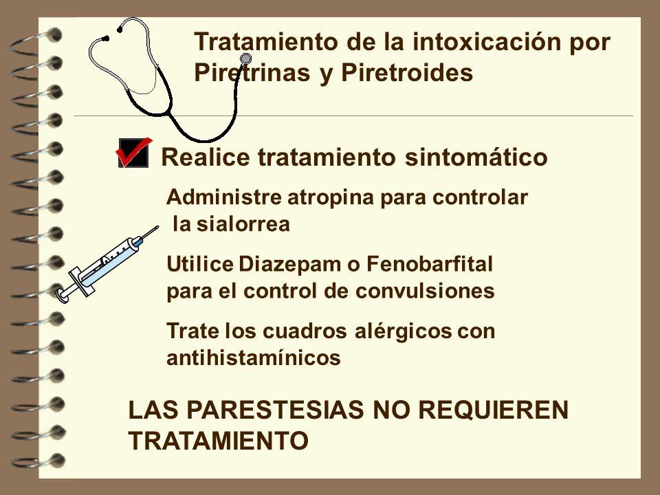 Tratamiento de la intoxicación por Piretrinas y Piretroides
