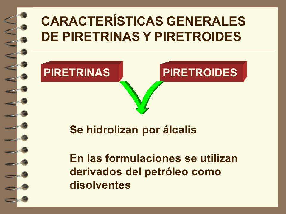 CARACTERÍSTICAS GENERALES DE PIRETRINAS Y PIRETROIDES