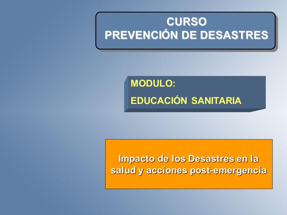 CURSO PREVENCIÓN DE DESASTRES