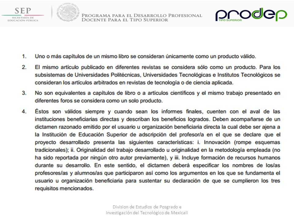 Division de Estudios de Posgrado e Investigación del Tecnológico de Mexicali