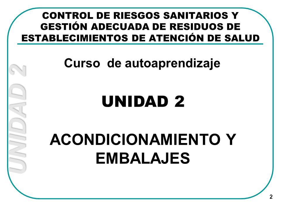 Curso de autoaprendizaje ACONDICIONAMIENTO Y EMBALAJES