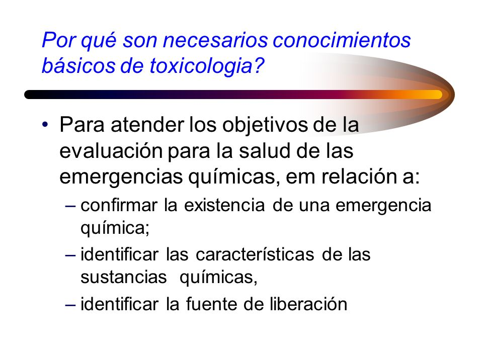 Por qué son necesarios conocimientos básicos de toxicologia