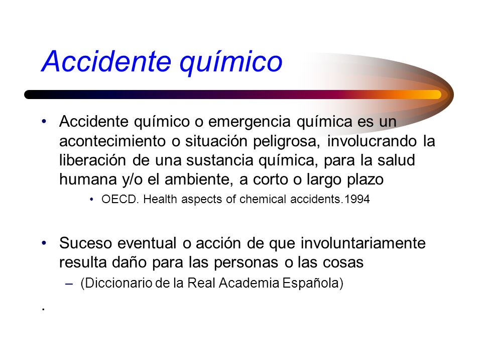 Accidente químico