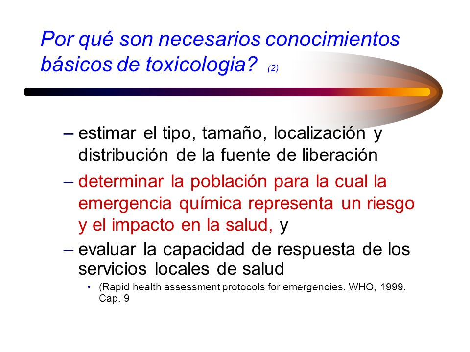 Por qué son necesarios conocimientos básicos de toxicologia (2)