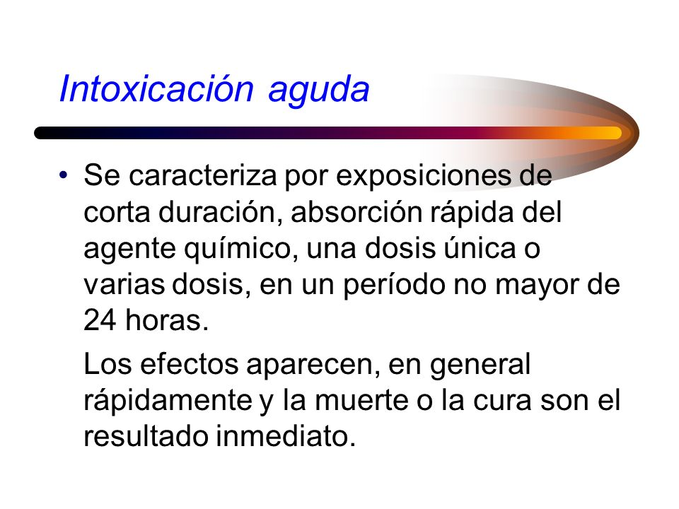 Intoxicación aguda