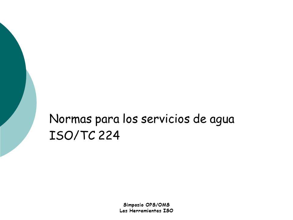 Normas para los servicios de agua ISO/TC 224