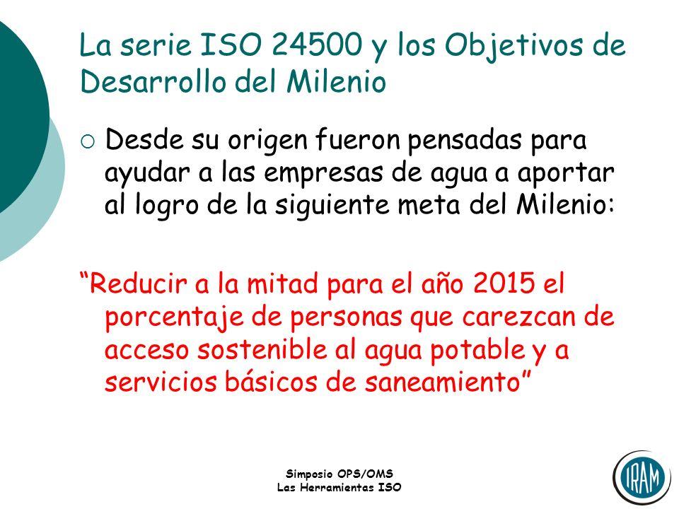 La serie ISO 24500 y los Objetivos de Desarrollo del Milenio