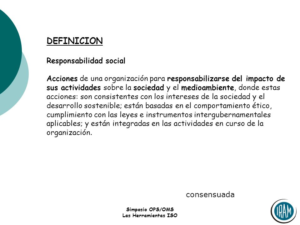 DEFINICION Responsabilidad social