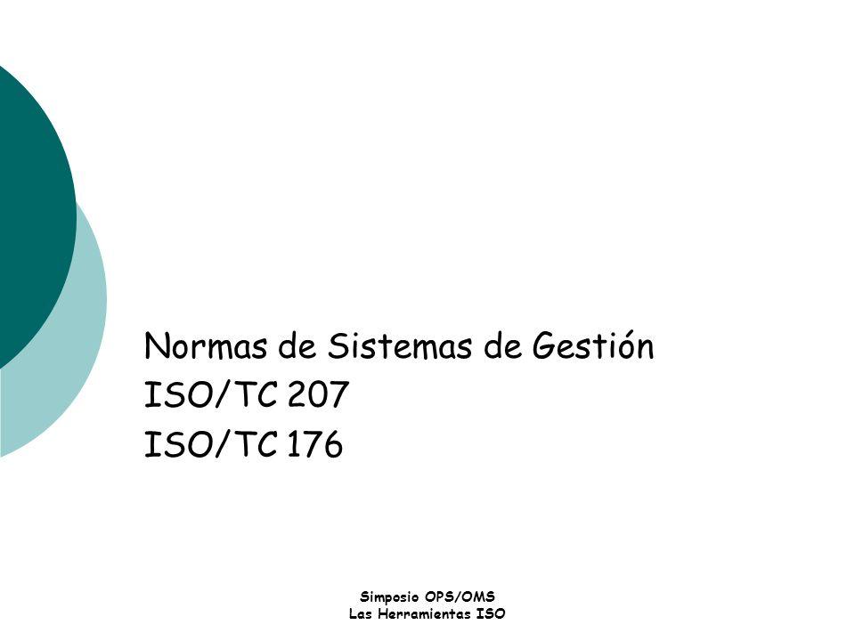 Normas de Sistemas de Gestión ISO/TC 207 ISO/TC 176