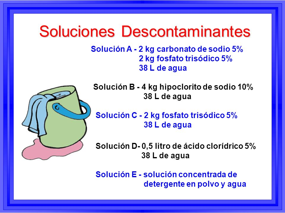 Soluciones Descontaminantes