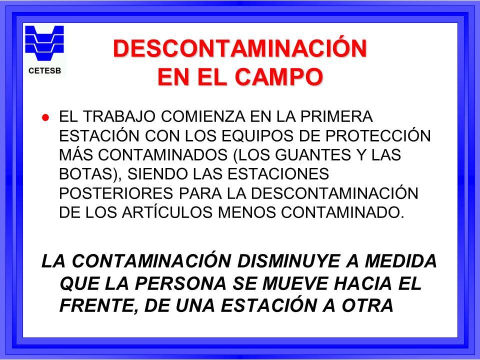 DESCONTAMINACIÓN EN EL CAMPO